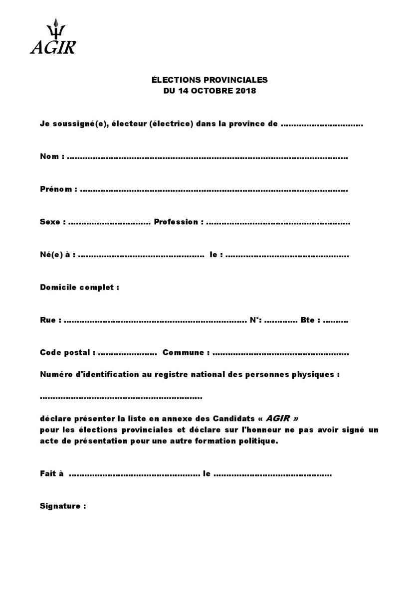 Form sign elec prov